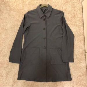 Eileen Fisher Grey Button Down Jacket/Blazer SZ L